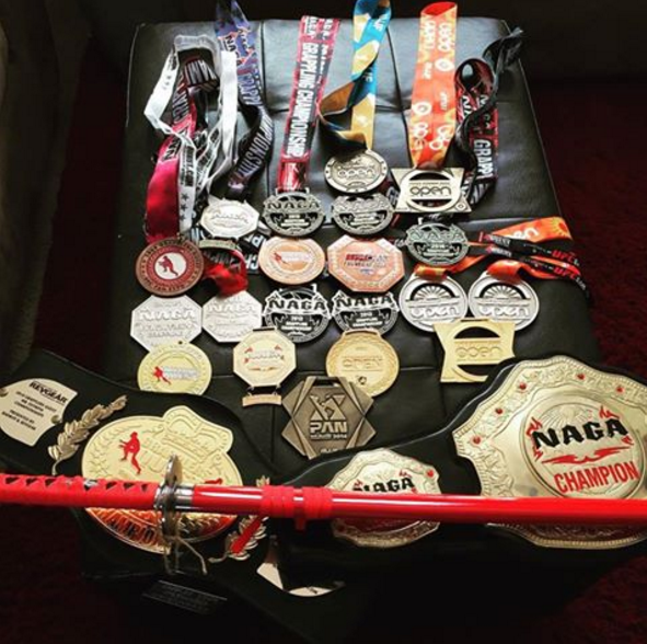 Collection of Brazilian Jiu Jitsu Medals